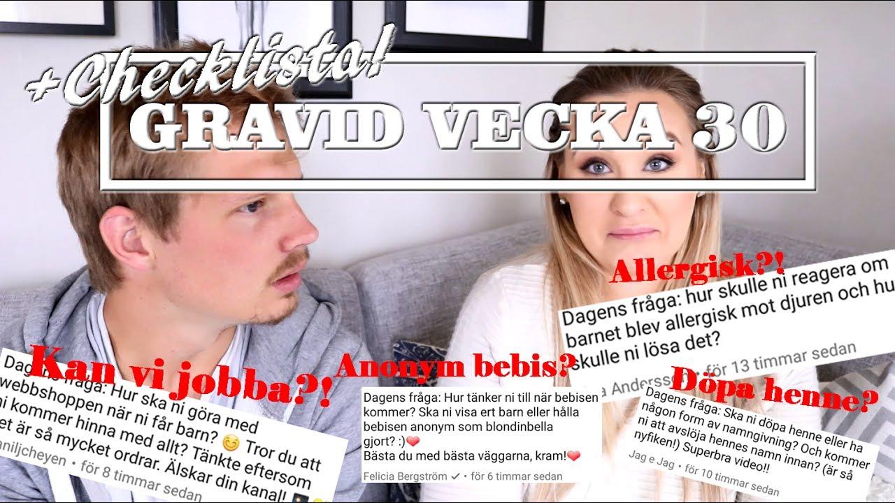 71f5b018306f SLUTA MED YOUTUBE NÄR BEBIS KOMMER?! | Gravid vecka 30 - YouTube