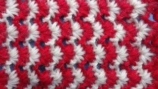 Узоры крючком Tunisian crochet pattern 24