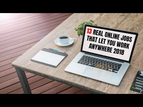 13 Real Online Jobs That Let You Work Anywhere 2018