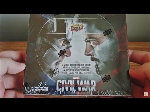 2016 Upper Deck Marvel Captain America Civil War Hobby Box Break! Awesome!