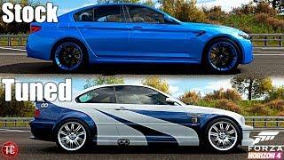 Forza Horizon 4: Stock vs Tuned! 2018 BMW M5 vs BMW M3 GTR