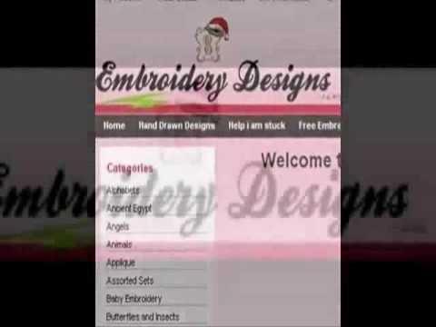 Amazing Embroidery Designs Free Designs Everyday Youtube
