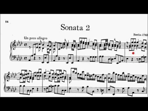 ABRSM Piano 2019-2020 Grade 8 B:1 B1 CPE Bach Un Poco Allegro (Sonata in Ab H.31 Movt 1) Sheet Music