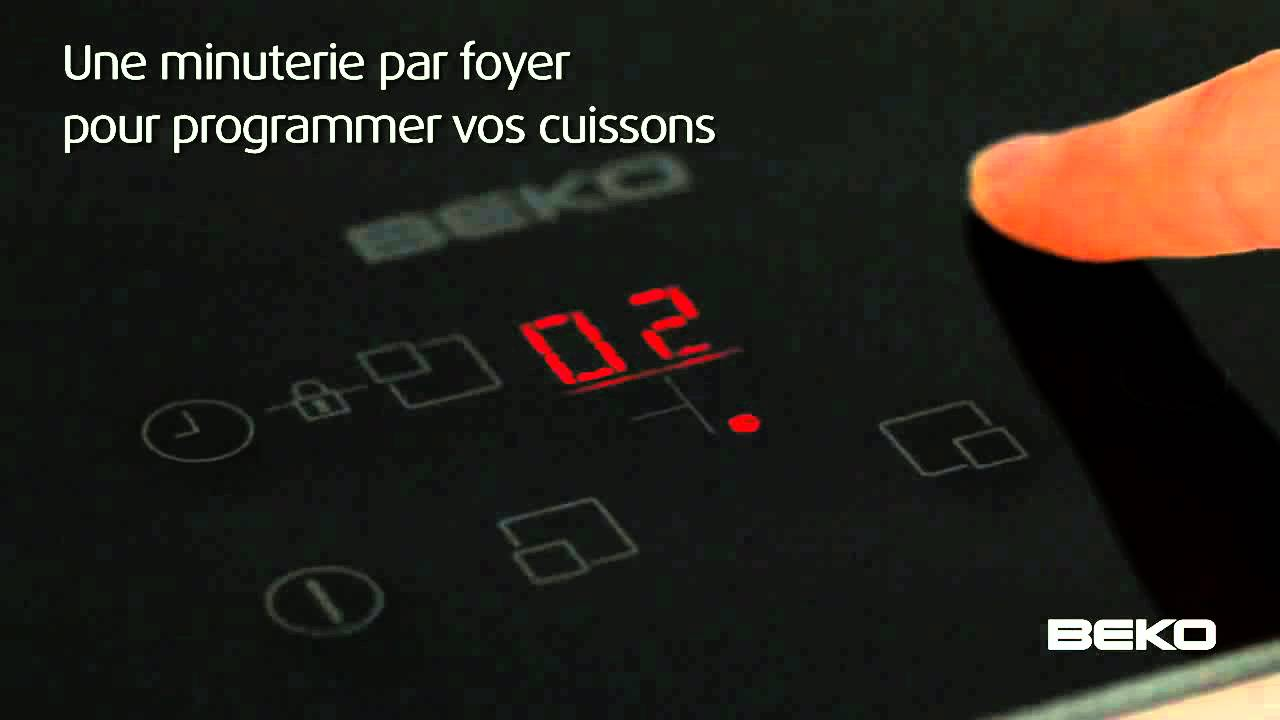 table de cuisson à induction beko - youtube