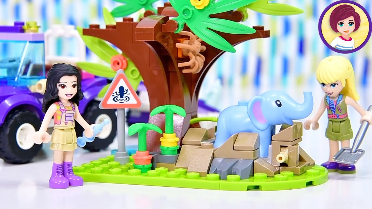 Baby elephant 😍! It's in danger ..... (of being too cute) - Lego Friends Build & Review