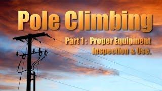 Lineman Electrician Pole Climbing 1