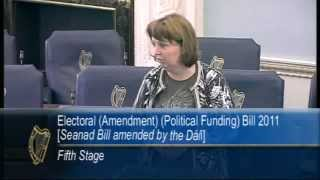 Senator Jillian van Turnhout - Electoral (Amendment) (Political Funding) Bill 2011