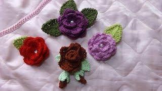 Вязание Цветок розочка крючком (Роза)