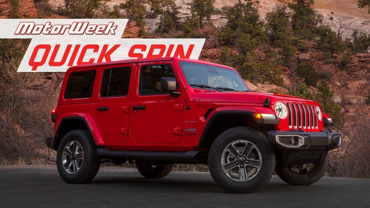 2020 Jeep Wrangler Ecodiesel Motorweek Quick Spin Youtube