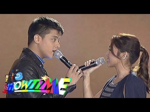 """It's Showtime: Kathryn, Daniel sing """"Pangako Sa'Yo"""" on 'Showtime Kapamilya Day'"""