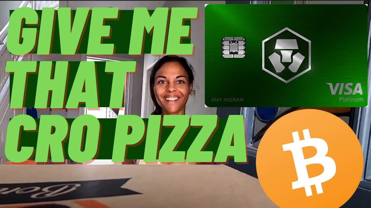 Buying Her Pizza With The Crypto.com Jade Green Debit Card! HUGE CRO BACK On My Laptop Screen Repair