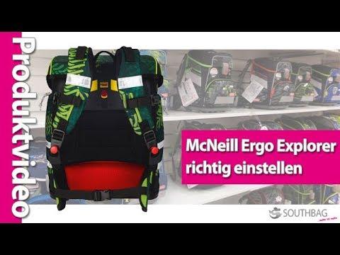 9507a543a2aa0 McNeill Schulranzen Ergo Explorer - richtig am Rücken einstellen ...