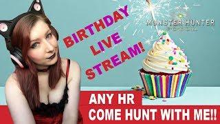 BIRTHDAY LIVE STREAM! NAKED HUNTS!! - Monster Hunter: World Gameplay Walkthrough Part 41