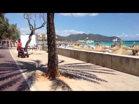 Seafront bike ride, Cala Millor, Majorca