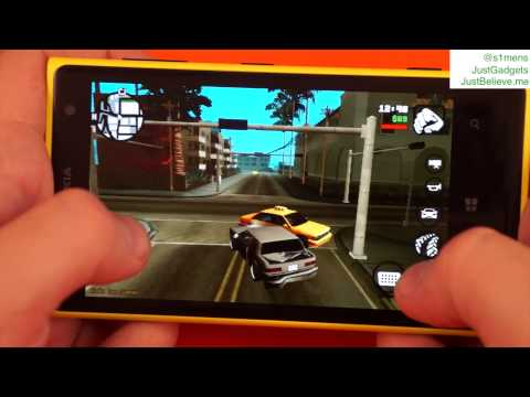 GTA San Andreas под Windows Phone 8 на примере Nokia Lumia 1020