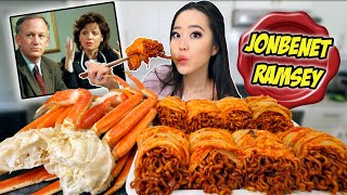 SNOW CRAB LEGS + GIANT KIMCHI WRAPPED NUCLEAR BLACK BEAN NOODLES MUKBANG 짜장면 먹방 | Eating Show