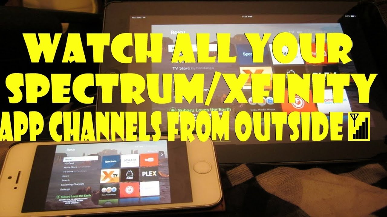 Watch ALL Your Spectrum/Xfinity App Channels On OUTSIDE 📶 Wifi  Stream  Your Roku Apps To Your IPhone