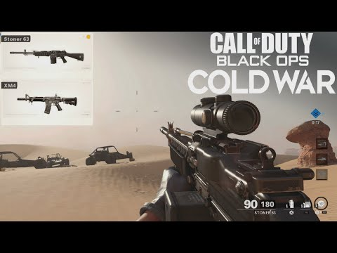 Black Ops Cold War Alpha Gameplay - Stoner 63 & Colt Commando(XM4) Gameplay | Call Of Duty