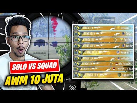 solo-v-squad-diserang-3-squad-pas-banget-nemu-awm-langsung-hajar---pubg-mobile