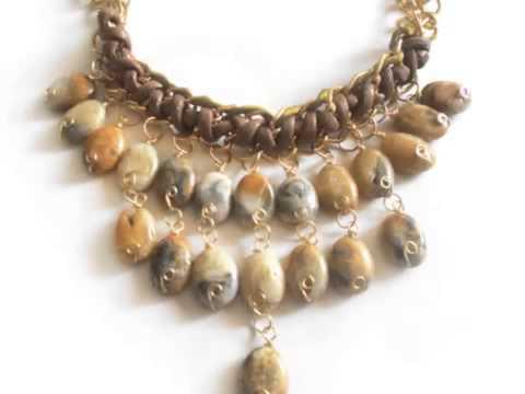 Maxi collar piedras naturales youtube for Piedras naturales