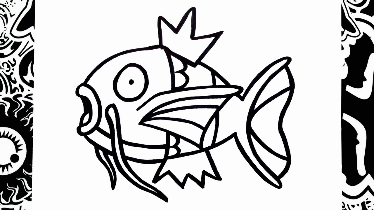 Pokemon Bulbasaur Para Colorear: How To Draw Magikarp - YouTube
