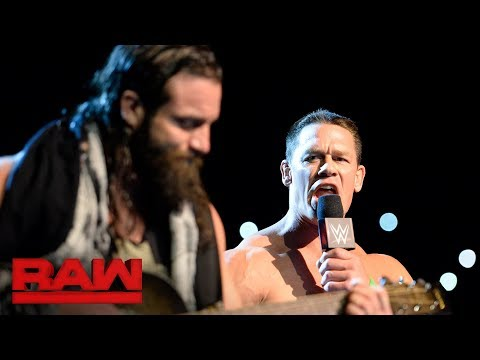 A musical interruption from Elias leaves John Cena's return on a painful note: Raw, Dec. 25, 2017