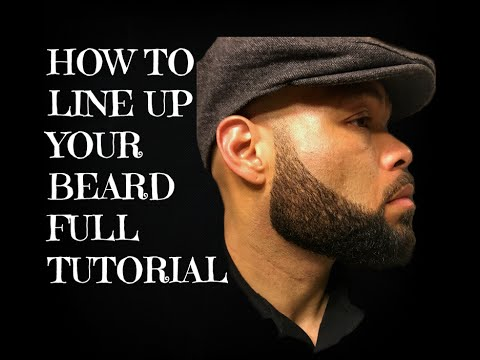 How to line up your beard Full Tutorial Beard Shaping