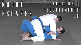 Mount Escapes | Blue Belt Requirements | ROYDEAN.TV