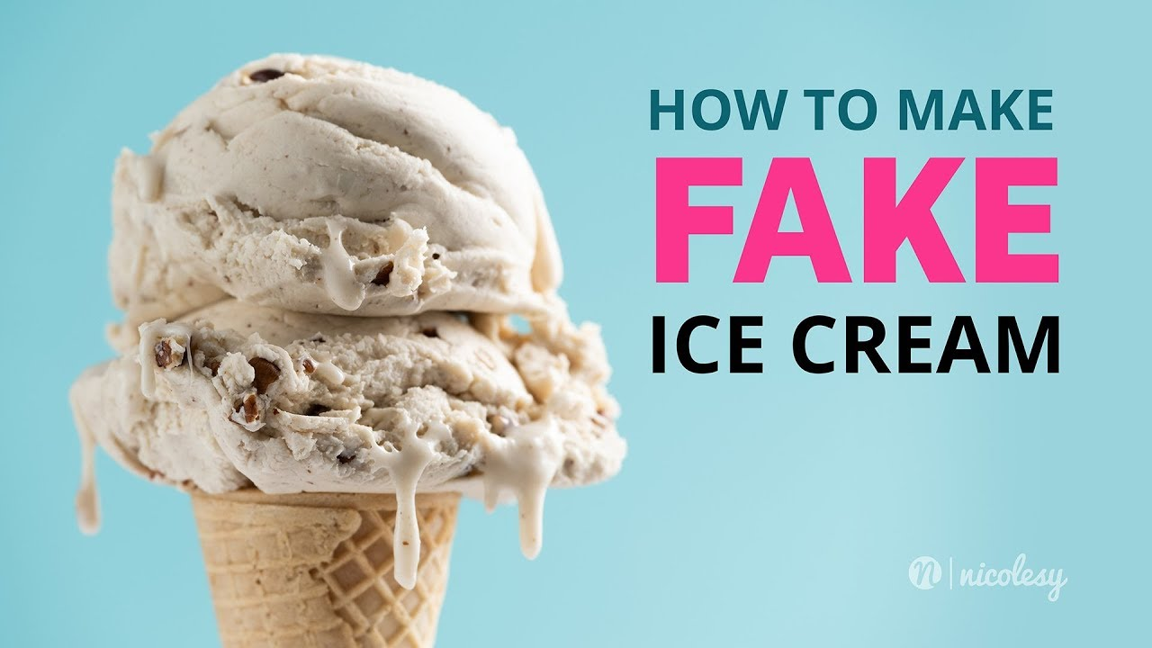 How To Make Fake Ice Cream For Food Photography Youtube