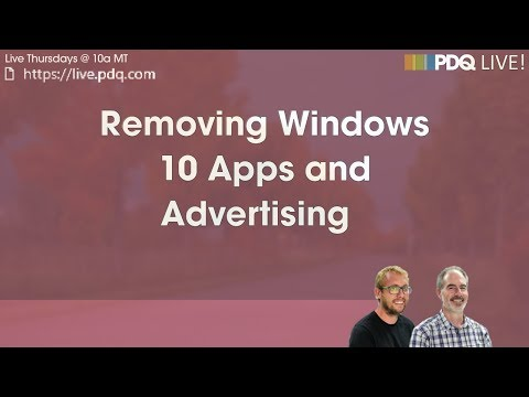 Removing Windows 10 Apps and Advertising - PDQ com