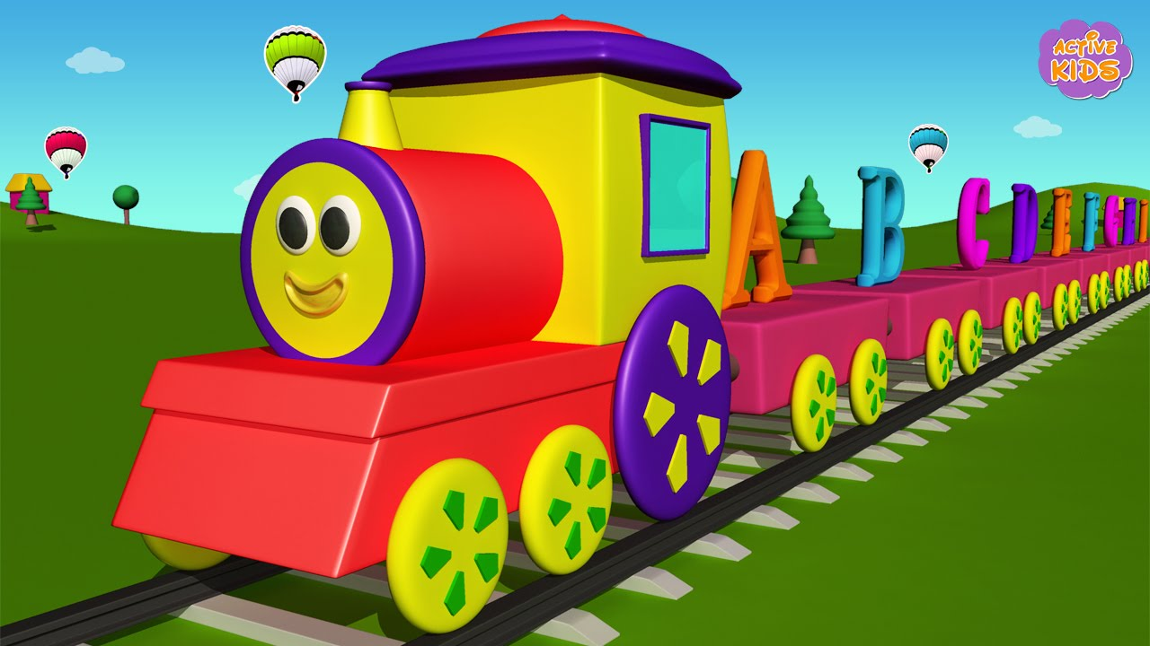 Alphabet Train For Kids Learning Abc Letters For