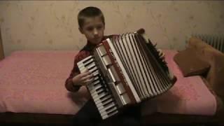 Гаврилин комическое шествие 2я партия аккордеон