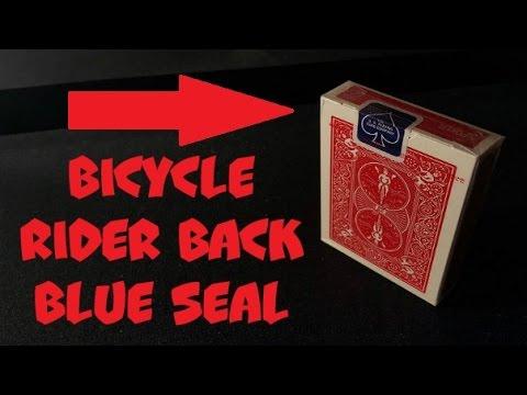 Обзор на Bicycle Rider Back Blue Seal - Лучшие карты для фокусов и покера!