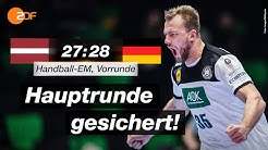 Lettland - Deutschland 27:28 - Highlights | Handball-EM 2020 - ZDF