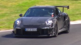 2018 PORSCHE 991 GT2 RS MULE SPIED TESTING ON THE NURBURGRING!
