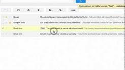 Gmail-sähköposti - Tunnisteet