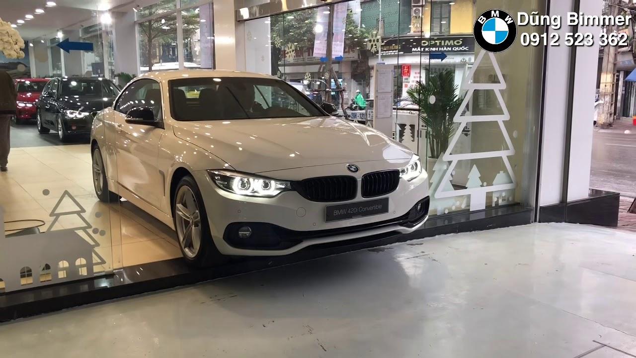 Xe mui trần BMW 420i Convertible trắng đẹp thể thao sang trọng – LH 0912523362