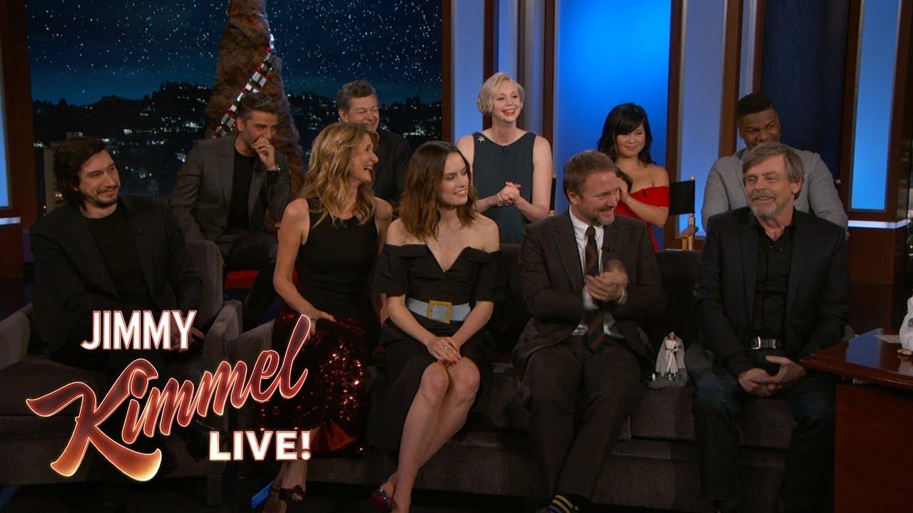 Watch The Last Jedi Cast Reveal Star Wars 8 Secrets On Kimmel