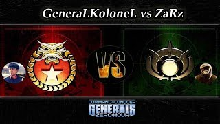 [C&C Zero Hour] GeneraLKoloneL vs ZaRz - Replay Commentary