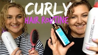 Curly Hair Routine! Thumbnail