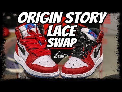 2bf6ed1fdcbc ORIGIN STORY 1 LACE SWAP AIR JORDAN 1 RETRO HIGH ORIGIN STORY AIR JORDAN 1  SPIDERMAN