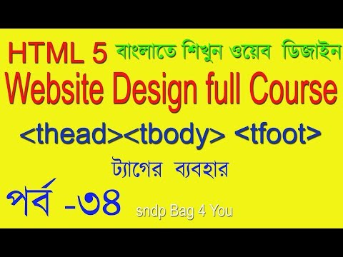 HTML Tutorial For Beginner Use Html Tbody Thead Tfoot Tag