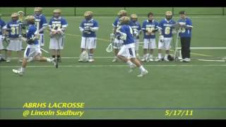 Acton Boxborough Varsity Boys Lacrosse vs Sudbury May 2011