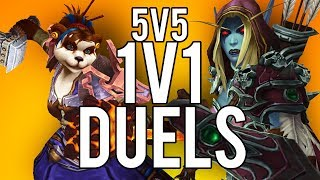 5V5 1V1 DUELS! LETS GO BOYS! 100K SUB STREAM! - WoW: Battle For Azeroth 8.2 (Livestream)