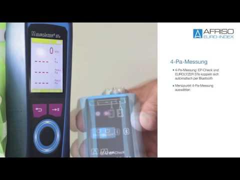 4-Pa-Messung - mit dem Abgasmessgerät Eurolyzer STe
