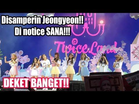 180825 TWICELAND IN JAKARTA ( SANA NOTICED ME!! ) DEKET BANGET!