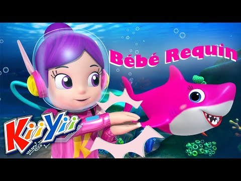 Baby Shark Dance - Danse du Bébé Requin | Comptines pour bébé | Dessins animés | KiiYii en Français