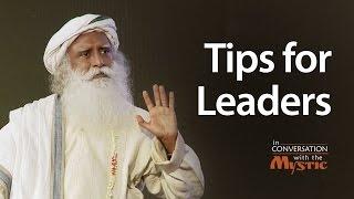 Tips for Leaders - Piyush Panday asks Sadhguru