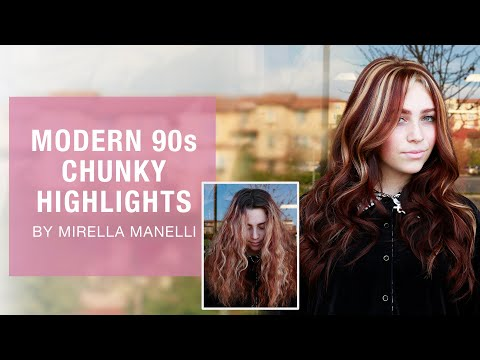 Modern 90s Chunky Highlights By Mirella Manelli | Kenra Color | Kenra Professional