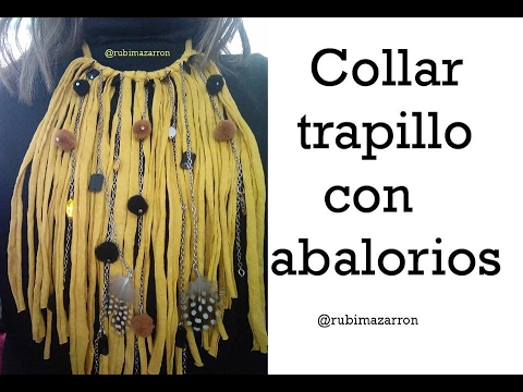 e1260c53d39c Diy. Collar de trapillo con abalorios - YouTube